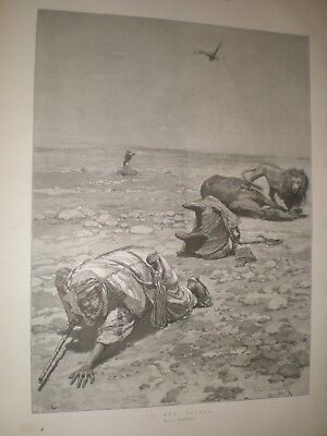 In The Desert By R Caton Woodville 1890 Print Ref AU • 9.99£