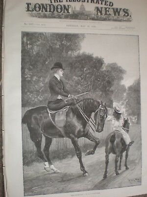 Her Protector By R Caton Woodville Horse Riding 1890 Print Ref AU • 9.99£