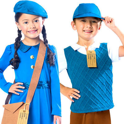 £7.99 • Buy Wartime Fancy Dress History 30s 40s Book Day Week Girls Boys Childrens Costumes