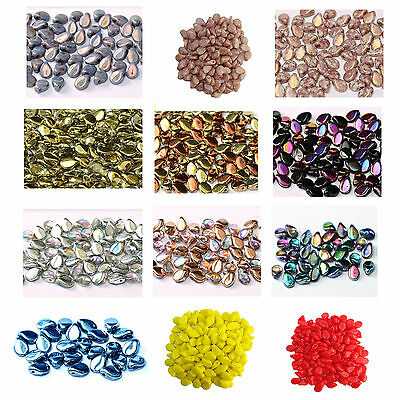 Pack Of 30 Czech Glass Pip Beads 4x7mm - Lots Of Colours Available • 1.70£