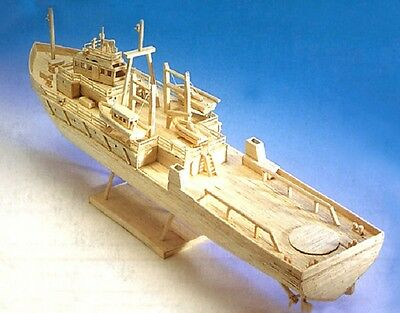 £24.95 • Buy Oil Rig Support Vessel - Matchstick Model Construction Craft Ship Kit - NEW