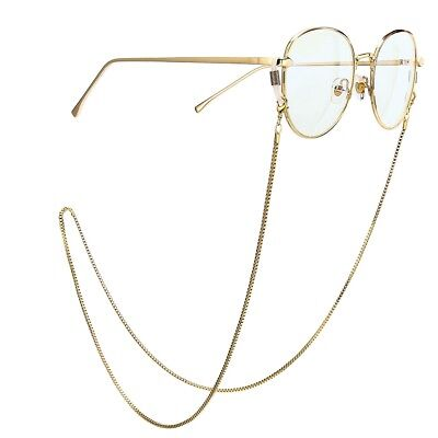 Metal Glasses Neck Chain Cord Lanyard Gold Retainer Spectacles Sunglasses • 1.99£