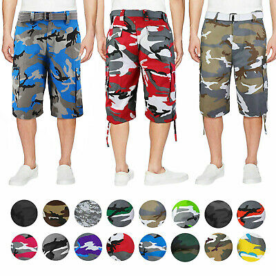 $26.99 • Buy Men's Tactical Military Army Camo Camouflage Slim Fit Cargo Shorts With Belt