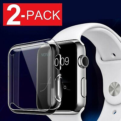 $ CDN8.12 • Buy 2 Pack Soft Ultra Thin Clear Protective Case Cover For Apple Watch Series 2 3 4