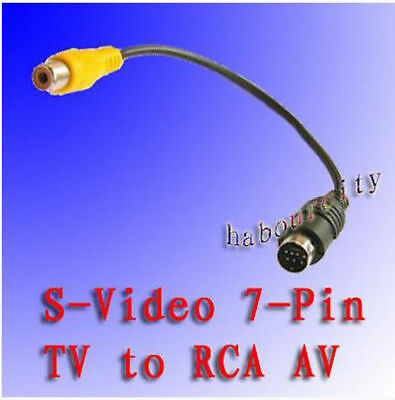 £2.51 • Buy 7 PIN S-VIDEO Svideo Male To AV /TV / RCA Female Cable Adapter Converter NEW