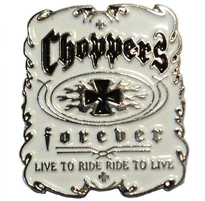 Choppers Live To Ride - Ride To Live Motorcycle Bike Metal Biker Rocker Badge  • 2.69£