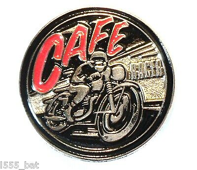 Classic 1960's Cafe Racer British Motorbike Ton Up Boy Metal TT Motorcycle Badge • 2.69£