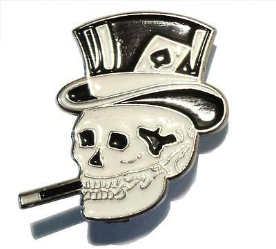 Smoking Skull Ace Of Spades Biker Motorcycle Bike Motorbike Metal Rocker Badge  • 2.69£