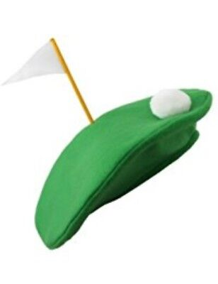 Golf Society Hat Fancy Dress Joke Prize Crazy Pub Putting Green Beret Cap • 4.77£