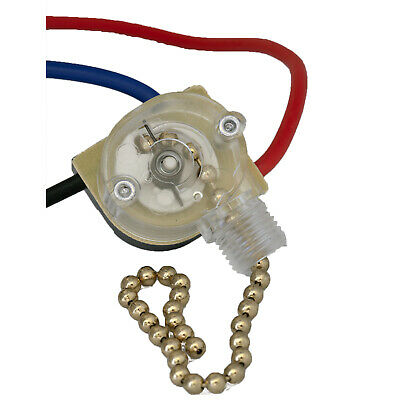 3-Way Home Ceiling Fan Light Brass Pull Control Switch Replacement FREE SHIPPING • 7.85$