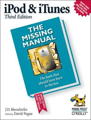 AU18.65 • Buy IPod And ITunes: The Missing Manual By J.D. Biersdorfer