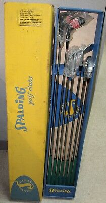 AU193.74 • Buy Vintage Spalding Tee Flite  Powerstroke Golf Clubs  Set Of 7 With Original Box