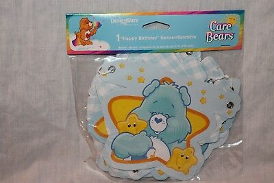 NEW  IN PACKAGE CARE BEARS 1st  BIRTHDAY BANNER BLUE PARTY SUPPLIES   • 5.24£