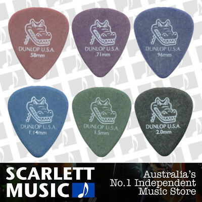 AU5.20 • Buy 6 X Jim Dunlop Gator Grip 417R MIXED Guitar Picks Starter Set / Beginner
