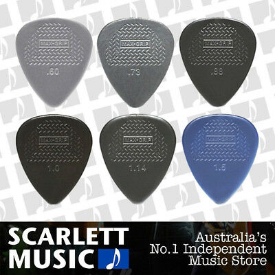 AU5.45 • Buy 6 X Jim Dunlop Max Grip MIXED Guitar Picks *NEW* Starter Max Grip Set