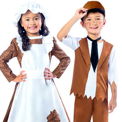 £7.99 • Buy Victorian Kids Fancy Dress Poor World Book Day Week Boys Girls Childrens Costume