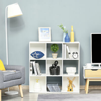 £39.99 • Buy HOMCOM 9 Cube Wooden Bookcase Storage Cabinet Shelf Home Office Cabinet White