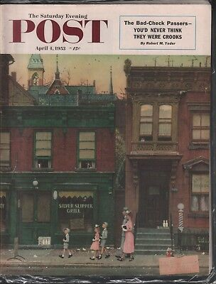 $ CDN31.92 • Buy Saturday Evening Post April 4 1953 Norman Rockwell Robert M Yoder 062618DBE