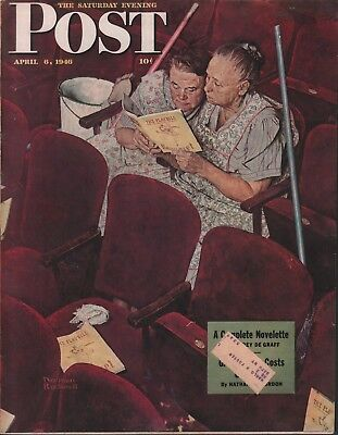 $ CDN32.48 • Buy Saturday Evening Post April 6 1946 Norman Rockwell W/ML 062618DBE