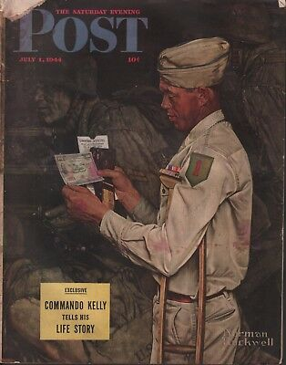 $ CDN38.17 • Buy Saturday Evening Post July 1 1944 Norman Rockwell 062618DBE