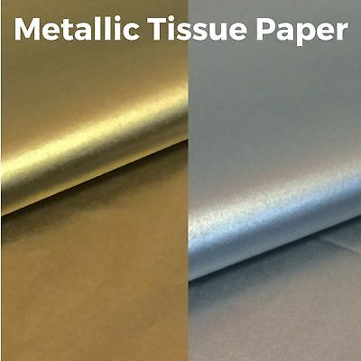 £3.17 • Buy Metallic Tissue Paper - High Quality & Acid Free - 500mm X 750mm - Gold & Silver