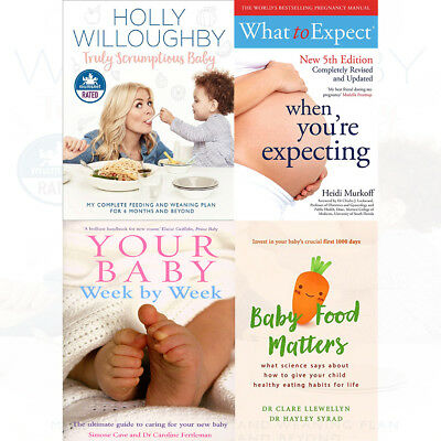 Your Baby Week By Week 4 Books Collection Set Baby Food Matters Paperback NEW • 30.98£