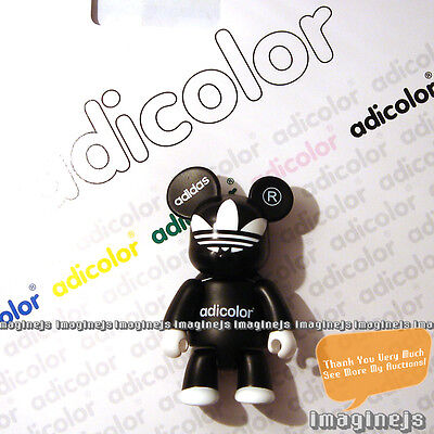 $69.99 • Buy RaRe~ Adidas Adicolor Toy2r Qee BLACK Figure Key Chain Bearbrick