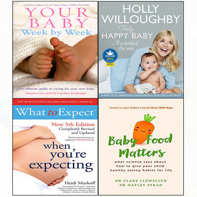 Your Baby Week By Week 4 Books Set Collection Truly Happy Food Matters NEW BRAND • 32.98£