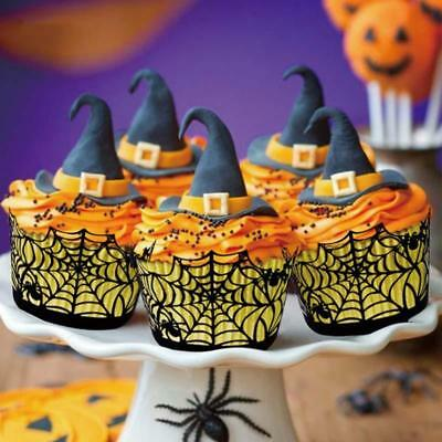 £2.47 • Buy 12Pcs Halloween Decorations Cupcake Wrappers Wraps Cases Cut Cake C