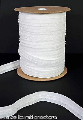 Quality Rufflette-25mm-White-Curtain-Heading-Header-Tape-10-Metres • 8.50£