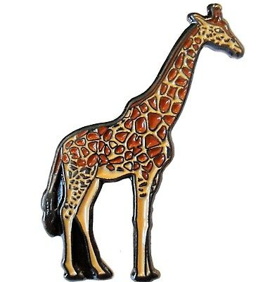 Giraffe African Wild Animal Africa Zoo Brooch Metal Enamel Pin Badge 30mm NEW • 2.69£