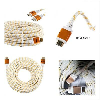 $ CDN46.70 • Buy Premium HDMI Cable Cord 3ft 6ft 10ft 15ft 25ft 30ft 50ft 75ft 100ft White LOT US