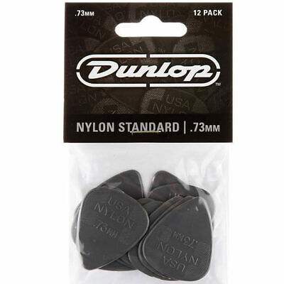AU7.95 • Buy 12x Jim Dunlop Nylon  Greys  .73MM Gauge Guitar Picks Plectrums