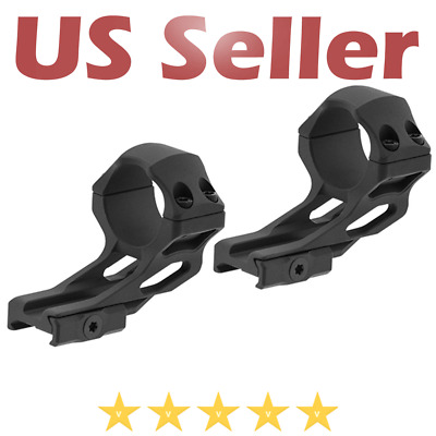 $37.90 • Buy UTG Leapers ACCU-SYNC 30mm High Profile 37mm Offset Picatinny Scope Rings Black