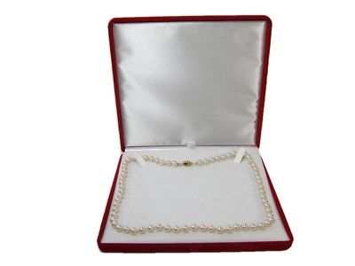 $17.99 • Buy New Red Velvet Jewelry Store Style XL Necklace Pearl Gift Box