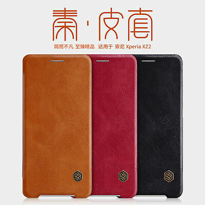 AU12.12 • Buy Nillkin PU Leather Flip Card Cover Case For Sony Xperia XZ3 XZ2 Compact Premium