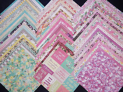 $26.95 • Buy 12x12 Scrapbook Paper Wild Flower Floral Garden Mom Spring 60 Lot Recollections