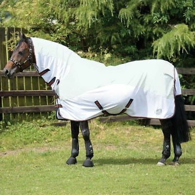 Masta Avante Waterproof Fly Rugs - For Horses And Ponies - White - 5'3 - BN • 60£
