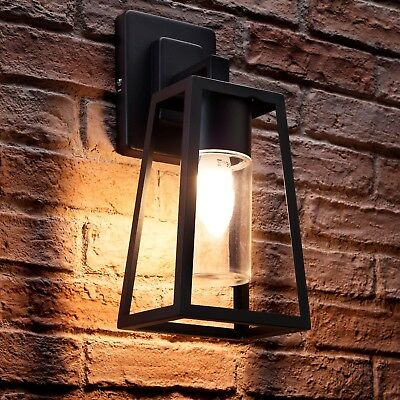 Auraglow Black Outdoor Hanging E27 LED Cool/Warm Candle Lantern Wall Light Lamp • 32.99£