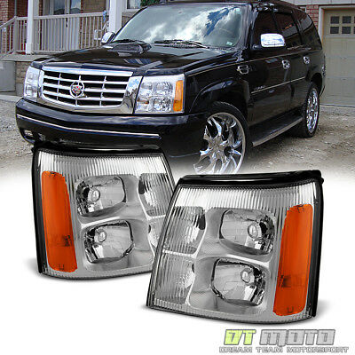 $134.99 • Buy 2002 Cadillac Escalade Base / Ext Replacement Headlights Headlamps Left+Right 02
