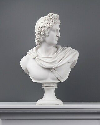 £323.07 • Buy Apollo Belvedere White Marble Bust Statue (Large) Made In Europe (21in/53cm)