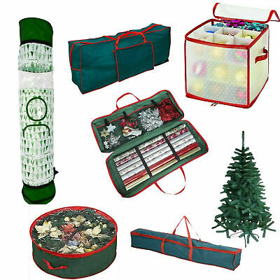 Christmas Zip Up Storage Bag Xmas Gift Wrap Organiser Sturdy Tree Cover Sack • 5.45£