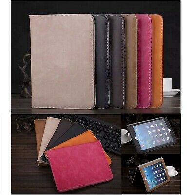 AU8.54 • Buy Premium Luxury PU Leather Smart Plain Case Cover Apple IPad Tablet Air 2 5th 6th