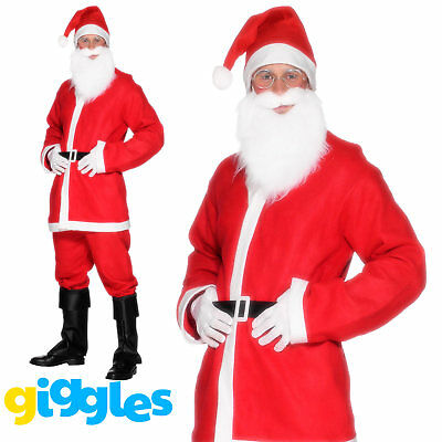 Santa Claus Costume Suit Adult Father Christmas Fancy Dress Mens Xmas Outfit • 7.01£