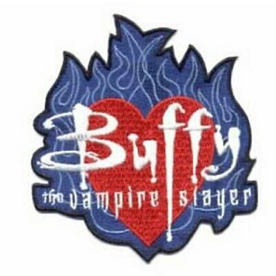 $7.99 • Buy Buffy The Vampire Slayer Name On Heart In Flames Logo Embroidered Patch UNUSED