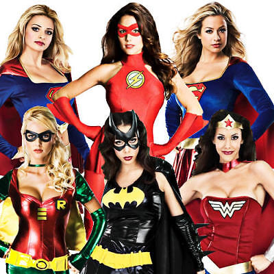 £31.99 • Buy Sexy Superhero Costumes Womens Comic Book Movie Ladies Adult Fancy Dress Outfit