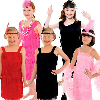 £6.99 • Buy 1920s Flapper Girls Fancy Dress Gatsby 20s Charleston Kids Childs Costume Outfit