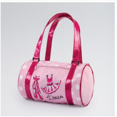 Pink Nylon Barrel Ballet Bag Pretty Ballet Shoes & Tutu Holdall • 15.99£