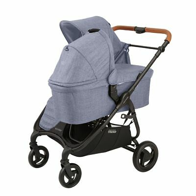 $879.95 • Buy Valco 2018 Snap DUO Trend Stroller In Denim With Bassinet!! Free Shipping!
