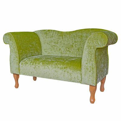 49  Small Double Ended Chaise Longue Lounge Sofa Seat Lime Green Fabric UK • 319£